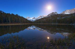 Spring Moonset